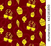 pattern. background texture.... | Shutterstock .eps vector #662181850