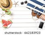 summer background with... | Shutterstock . vector #662183923