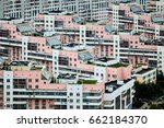 residential district in moscow    Shutterstock . vector #662184370