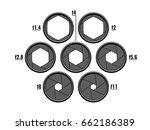 set of common aperture values... | Shutterstock .eps vector #662186389