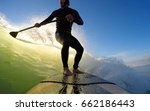 Standup Paddle Board Surfer...