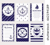 marine banners  invitations and ... | Shutterstock .eps vector #662194189