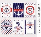 sea wedding invitations and...   Shutterstock .eps vector #662194210