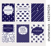 set of nautical and marine... | Shutterstock .eps vector #662194234