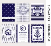 marine banners  invitations and ...   Shutterstock .eps vector #662194243