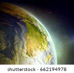 africa as seen from earth's... | Shutterstock . vector #662194978