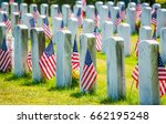 Rows Of Gravestones With...