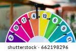 wheel of fortune on a children... | Shutterstock . vector #662198296
