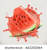 watermelon juice. fresh fruit ... | Shutterstock .eps vector #662202064