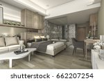 3d rendering luxury suite hotel ... | Shutterstock . vector #662207254