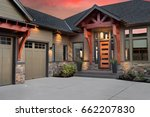 beautiful luxury home exterior... | Shutterstock . vector #662207830