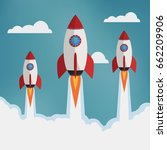 startup illustration. three...   Shutterstock .eps vector #662209906