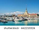 commercial seaport of sochi ...   Shutterstock . vector #662210326