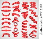 vector banner ribbon.... | Shutterstock .eps vector #662211100