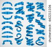 vector banner ribbon.... | Shutterstock .eps vector #662211106