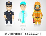 set of characters of... | Shutterstock .eps vector #662211244