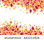 red autumn fall leaves vector... | Shutterstock .eps vector #662211826