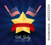fourth of july independence day ... | Shutterstock .eps vector #662215114