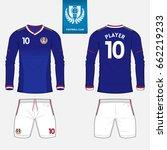 set of long sleeve soccer...   Shutterstock .eps vector #662219233