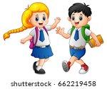 vector illustration of happy... | Shutterstock .eps vector #662219458