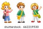 vector illustration of cute... | Shutterstock .eps vector #662219530