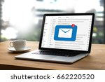 mail communication connection... | Shutterstock . vector #662220520