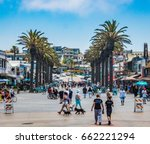 hermosa beach  california  ... | Shutterstock . vector #662221294
