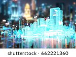 power grid   smart city energy  ... | Shutterstock . vector #662221360