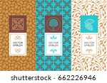 vector set of design elements... | Shutterstock .eps vector #662226946