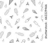 ice cream hand drawn pattern.... | Shutterstock .eps vector #662229466