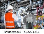 maintenance engineer working in ... | Shutterstock . vector #662231218