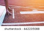 running track  hands on...   Shutterstock . vector #662235088