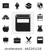 set of 12 editable school icons....