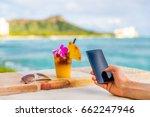 phone app man taking mobile... | Shutterstock . vector #662247946