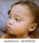 poor sick child has a fever lie ... | Shutterstock . vector #662248216