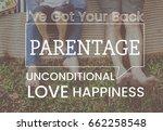 family parentage home love... | Shutterstock . vector #662258548