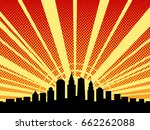 big city black outline shadows... | Shutterstock .eps vector #662262088