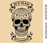 day of the dead. dia de los... | Shutterstock .eps vector #662262418