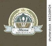 design menu label with fork ... | Shutterstock .eps vector #662268424