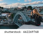 young woman taking pictures in... | Shutterstock . vector #662269768