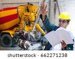 engineer contractor with... | Shutterstock . vector #662271238