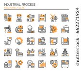 industrial process   thin line... | Shutterstock .eps vector #662271934