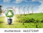 alternative energy concept with ... | Shutterstock . vector #662272369