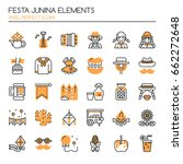 festa junina elements   thin... | Shutterstock .eps vector #662272648