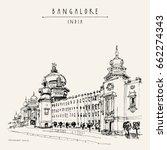 bangalore  bengaluru  ... | Shutterstock .eps vector #662274343