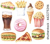 set of hand drawn delicious... | Shutterstock . vector #662275246