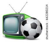 soccer channel. soccer ball and ... | Shutterstock .eps vector #662280214