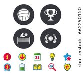 volleyball and net icons.... | Shutterstock .eps vector #662290150