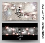 grand opening invitation shiny... | Shutterstock .eps vector #662294590