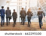 lively business people running... | Shutterstock . vector #662295100